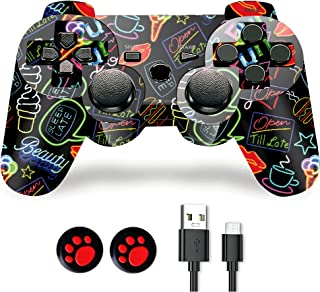 PS-3 Controller, PS-3 Controller Wireless,Play-Station 3 Controller, Wireless PS-3 Joystick Double Shock Gamepad Compatibl...