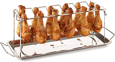 Barbecook Kippenvleugelhouder Parrilla para Alas de Pollo, Gris, 43.2x15.7x15.5 cm