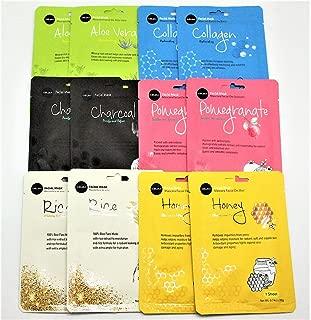 Celavi 12PCS Facial MASK SHEET Korea Skin Care Moisturizing 12 Pack