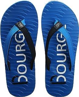 Bourge Men's Canton-z28 Black Flip-Flops