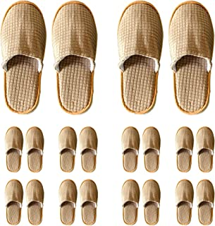 KX Spa Slippers - 10 Pairs Non Slip Colsed Toe Disposable Slippers for Guest,Hotel,Home,Travel,Party - Washable House Gues...