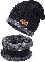JT-Amigo Sciarpa e Berretto Cappello Invernale a Maglia Bimba Bambina