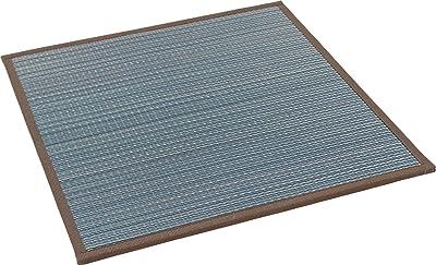 大島屋 ユニット畳 フィジー い草 ふんわり フロアー畳 ブルー 約82×82×1.5cm
