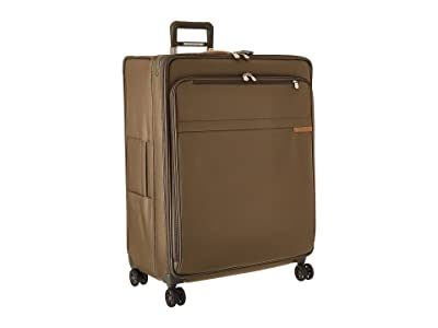 Briggs & Riley Baseline Extra Large Expandable Spinner (Olive) Luggage