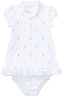 Ralph Lauren Baby - Ruffled Polo Dress & Bloomer (Infant)