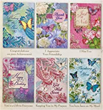 Pooch & Sweetheart Set of 6 All Occasion Floral Butterfly Greeting Cards,10121