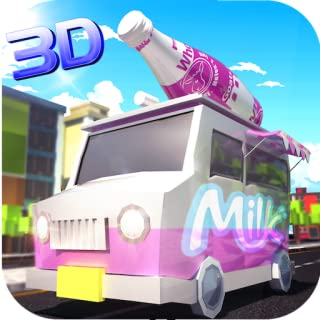 Milk Delivery Driver Simulator 3D: Delivery Tycoon Food Transporter in Van Simulation Games Free For Kids 2018