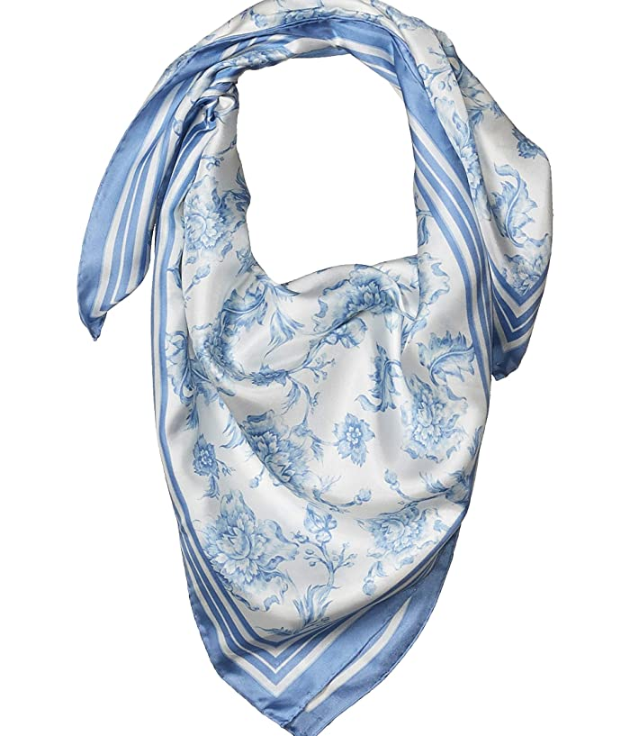 LAUREN Ralph Lauren  Alexa (Cream/Toile Blue) Scarves