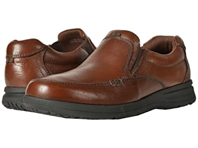 Nunn Bush Cam Moc Toe Slip-On (Cognac Tumbled Leather) Men