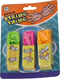 Home-X Super String Thing Set of 3 Bright Colors | Cats in The Cradle Creative Finger String Game
