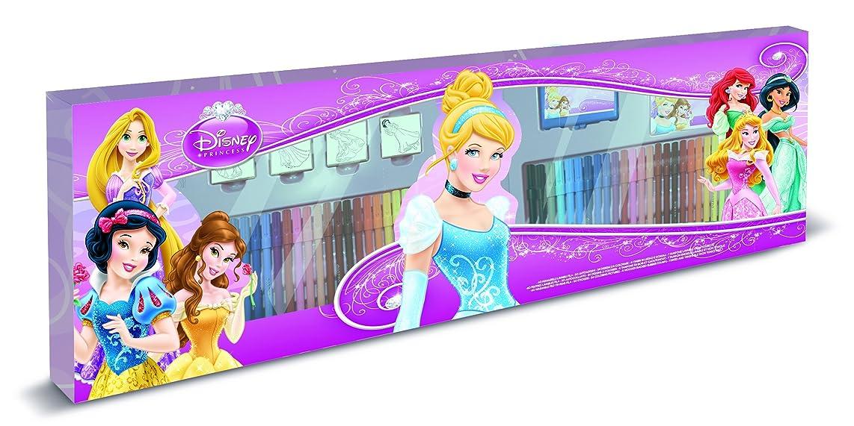 Multiprint Disney Princess Giant Giant Giotto Set of 60 Felt-Tip Pens + 4 Princess Stamps 18660