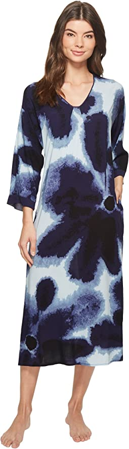 Satin Printed Maxi Sleepshirt