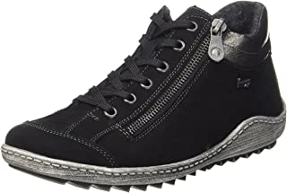 Remonte Women's, R1483 LACE UP Hightop Shoes Black 39 M
