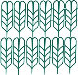 BDFF 12 Bundle of Garden Trellis for Climbing Plants Plastic Indoor Trellis for Potted Plants Vine Flower