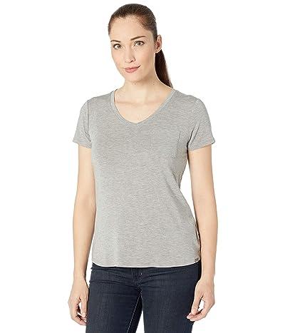 Prana Foundation Short Sleeve V-Neck Top (Heather Grey) Women