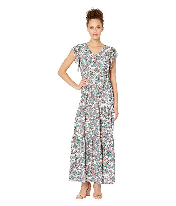 77fa97836d eci Flutter Sleeve Floral Printed Fit & Flare Maxi Dress at 6pm