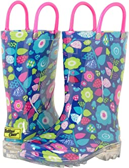 Western Chief Kids - Pop Flower Lighted Rain Boots (Toddler/Little Kid)