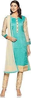 SOCH Women's cotton straight Salwar Suit Set (SALE1 CD 10013_ Teal_ 2xl)