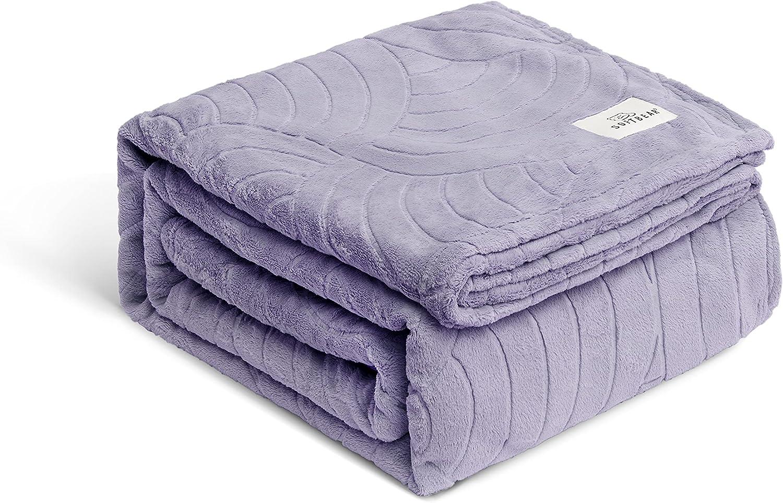 Flannel Fleece Blanket online shopping Twin Clearance SALE! Limited time! Purple – Lavender Size