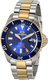Seapro Men's Scuba 200 Automatic Camping Watch with Stainless Steel Strap, Silver, 22 (Model: SP4327)