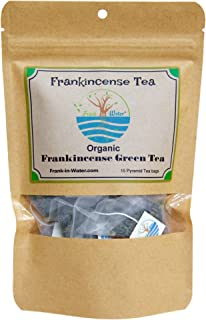 Organic Frankincense Green Tea | 100% Organic Boswellia Frankincense Tea | 15 Premium Full Leaf Pyramid Tea Bags