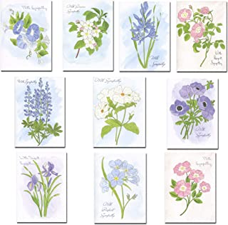 Sympathy Cards Assorted 30 cards w/messages inside (10 Designs) USA Made + 32 Envelopes