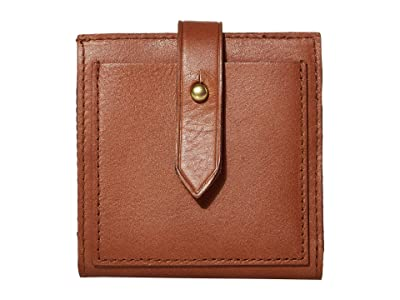 Madewell Bifold Post Wallet (English Saddle) Handbags