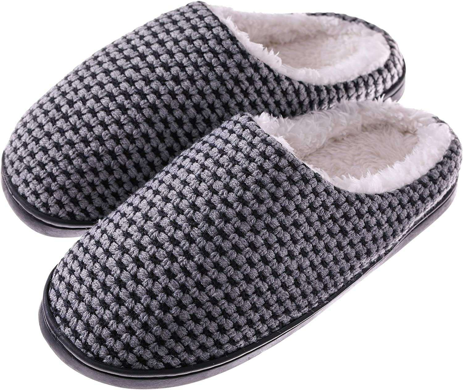 TRUEHAN Womens Memory Foam House Slippers Warm Soft Sole Anti-Slip Slippers Indoor shoes