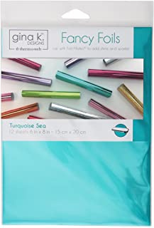 """Gina K. Designs for Therm O Web 18033 Fancy Foils, 6"""" x 8"""" Sheets, Turquoise Sea"""