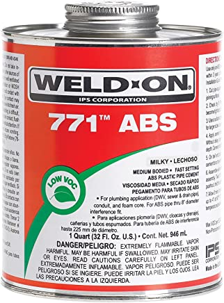 Weldon 10232 Milky White 771 Medium-Bodied Abs Professional Industrial-Grade Cement Fast-