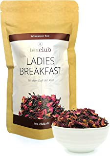 Schwarzer Tee Lose mit Rosenblütenblätter 100g, Schwarztee mit Rosenblüten veredelt, Ladies Breakfast Rosentee - TeaClub Black Tea