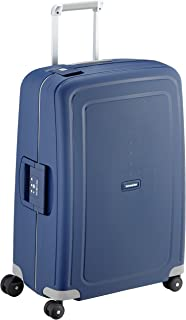 Samsonite S'Cure - Spinner M Valise, 69 cm, 79 L, Bleu (Dark Blue)