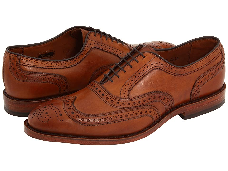 1920s Style Mens Shoes | Peaky Blinders Boots Allen Edmonds McAllister Walnut Calf Mens Lace Up Wing Tip Shoes $394.95 AT vintagedancer.com