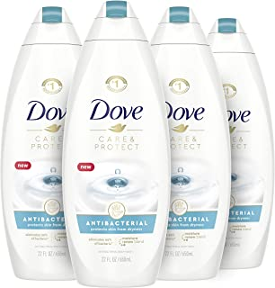 Dove Body Wash For All Skin Types Antibacterial Body Wash Protects from Dryness 88 Ounce, 4 Count