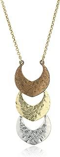 Women's Tri-Tone Pendant Necklace