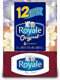 Royale Facial Tissue, 2-ply, 100 Sheets Per Box, 12 Pack
