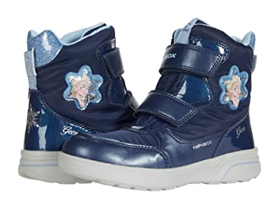 Geox Kids Sveggen B ABX 3 (Little Kid/Big Kid) (Navy/Sky) Girl