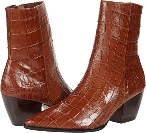 Brown Croc Leather