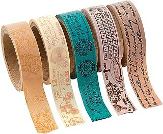 Fun Express Travel Washi Tape - Craft Supplies - Scrapbooking Embellishments - Misc Scrapbooking Embellishments - 5 Pieces