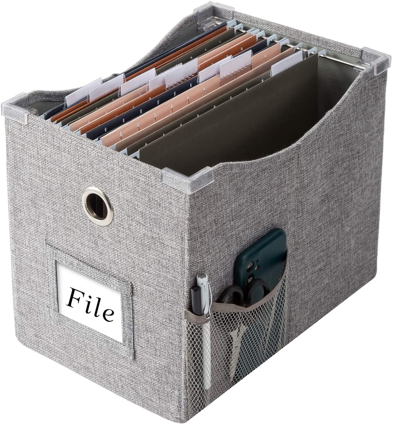 Linen File Boxes With Metal Sliding Size Letter For 1pack Super-cheap Translated Rail