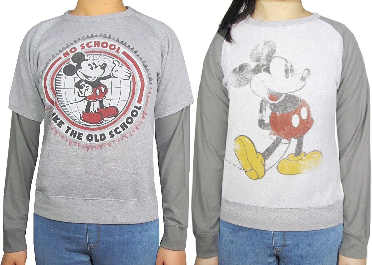 Disney Mickey Mouse Juniors Long Sleeve Reversible Sweatshirt