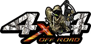 Bow Reaper 4x4 Snowstorm Camo-Set of Two (7 Inches- By- 14 Inches) Decals