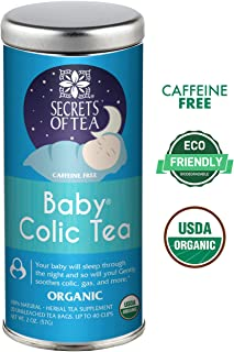 Baby Colic Tea – Digestive & Colic Prevention Herbal Tea – Soothes Acid Reflux, Newborn Tummy Digestion, Promotes Better Sleep – Calming, Safe & Healthy Colic Relief Tea – 20 Count