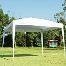 NSdirect EZ Easy Pop Up Canopy Tent Outdoor Portable Party Tent with Carrying Case/Bag Adjustable Folding Gazebo Pavilion Wedding Patio Shelter(10 x 10 ft White)