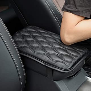 Seven Sparta Universal Center Console Cover for Most Vehicle, SUV, Truck, Car, Waterproof Armrest Cover Center Console Pad, Car Armrest Seat Box Cover Protector (Black)