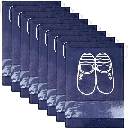 Lot de 12 Travel Sacs à Chaussures de Voyage, Sacs de Voyage Respirants Sacs Organisateurs, Portable Anti-poussière a...