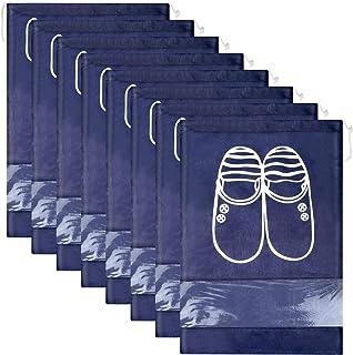 Lot de 12 Travel Sacs à Chaussures de Voyage, Sacs de Voyage Respirants Sacs Organisateurs, Portable Anti-poussière avec F...