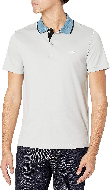 Lacoste 信託 Men's Short Sleeve Shirt Polo 祝開店大放出セール開催中 Semi-Fancy Jersey