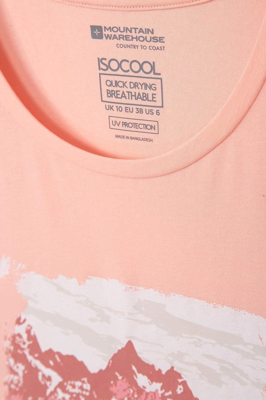 Breathable Ladies T-Shirt Mountain Warehouse Printed Womens Tee