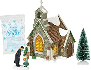 Department 56 Dickens Village Isle of Wight Chapel Lit Building and Accessories, 8.25